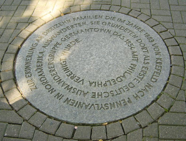 Auswandererdenkmal Krefeld - Zeitlicher Schutzbereich